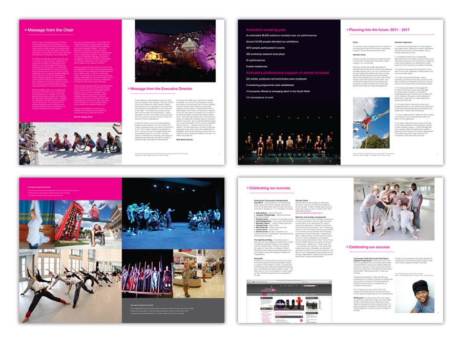 Activate Performing Arts Annual Report Design