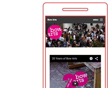 Bow Arts Branding & Website Case Study