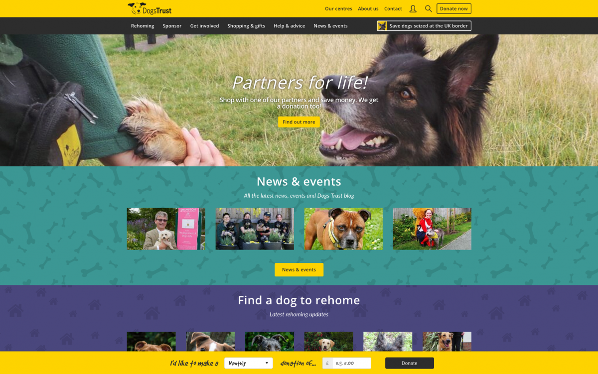 Dogs Trust Homepage