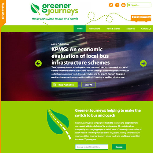 Greener Journeys Website SEO