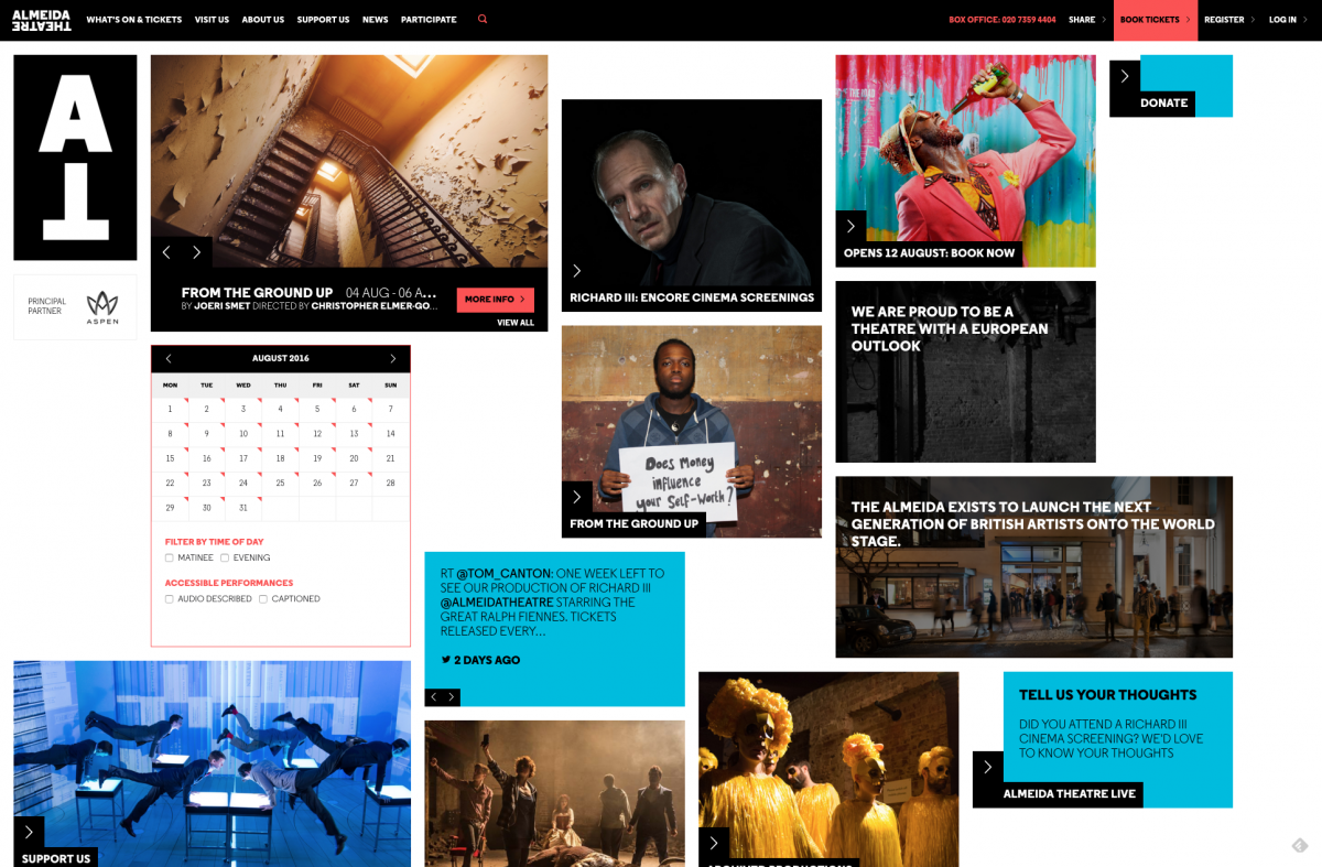 Homepage Screenshot Almeida Theatre
