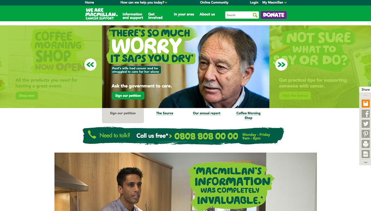 Macmillan Homepage Screenshot