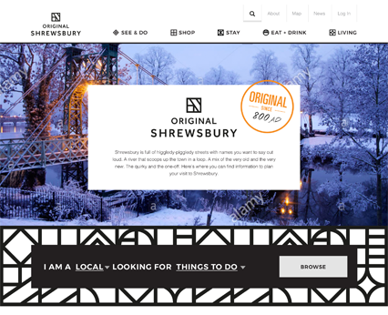Original Shrewsbury Website Homepage