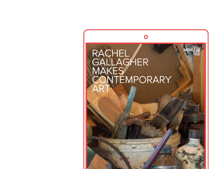 Rachel Gallagher Responsive Artist Website