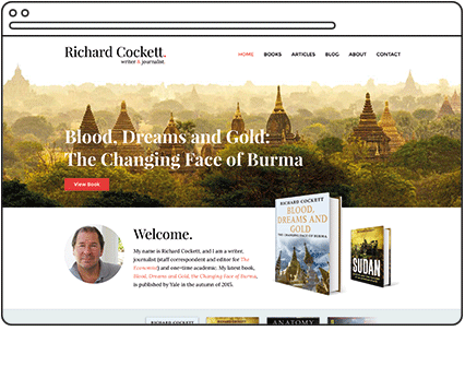 Richard Cockett Writer Website Design