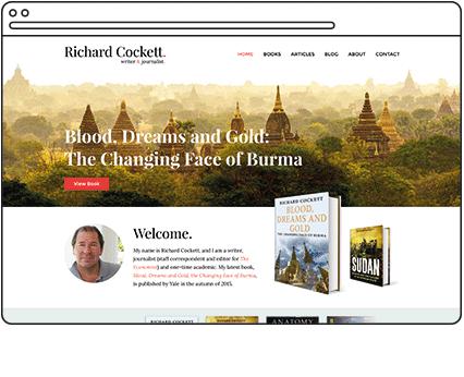Richard Cockett Writer Website Design