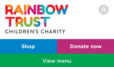 Screenshot of Rainbow Trust Mobile Version