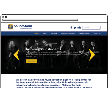 Music Education Hub Website Design