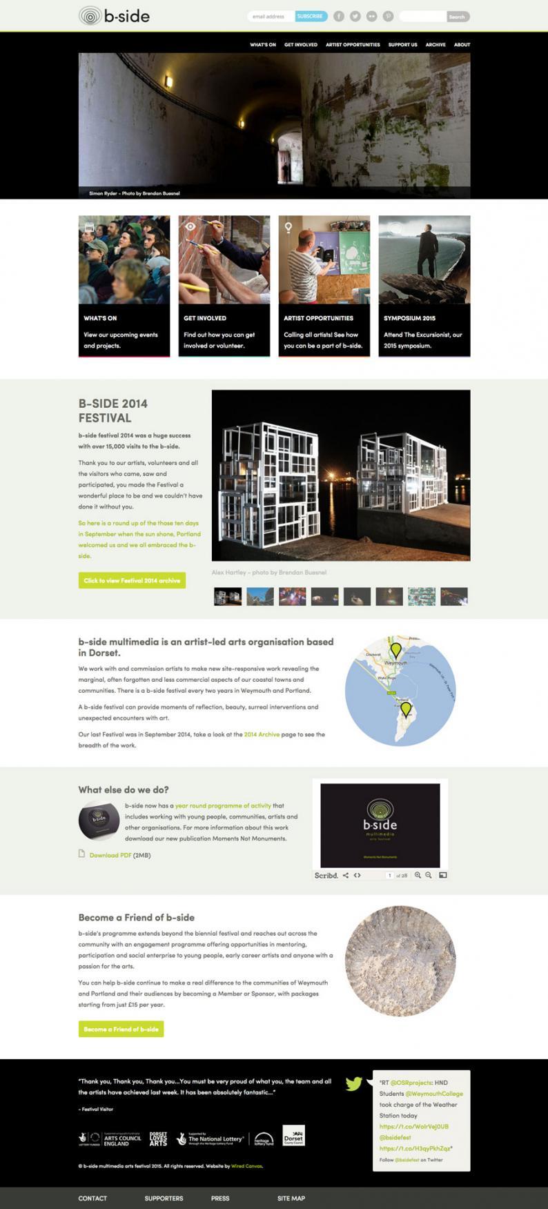 B-Side Desktop Website Design