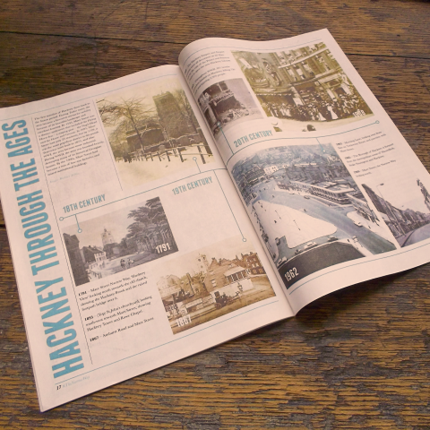 Hackney History Magazine Design