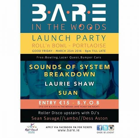 BARE launch party, Good Friday in Portlaoise. This is gonna be mental!
