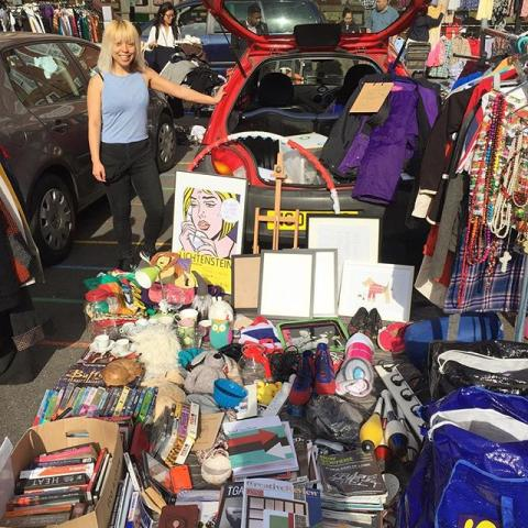 Me and @taskew are doing a carboot sale!! We've survived the 5.30am start and the insane early morning shoppers. Come down and see us if you're near Stokey.