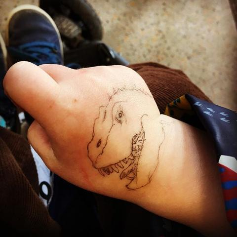 Off to East London. We'll need #dinosaur tattoos to fit in.