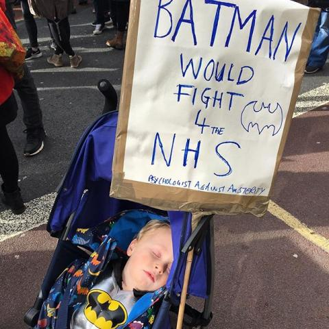batman would fight for the NHS... after a short nap. #ourNHS