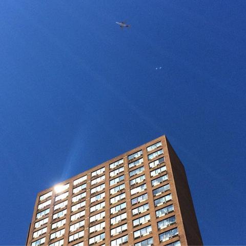Blue skies and aeroplanes