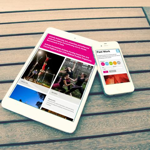 Responsive website: tablet and mobile view