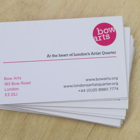 Bow Arts Business Card Design