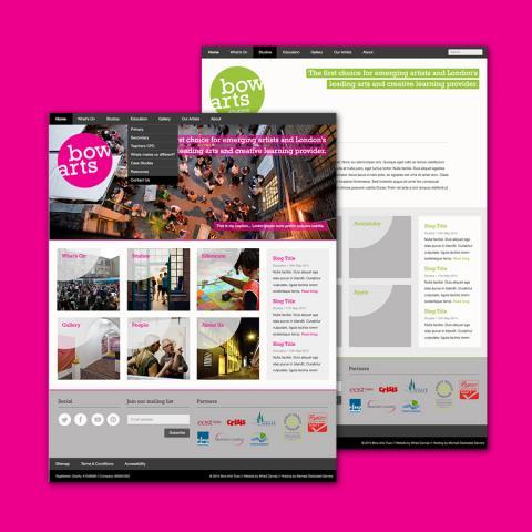 Bow Arts Responsive Website Design