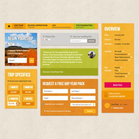 Camps International User Interface Design
