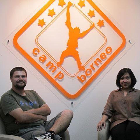 Camps International Logo Signage Design