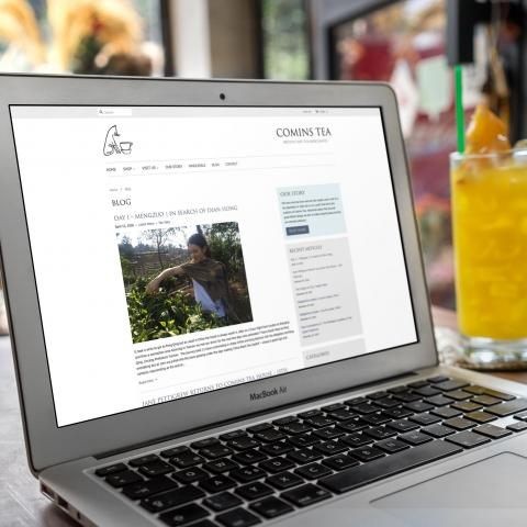 Comins Tea House Ecommerce Website Design & Development