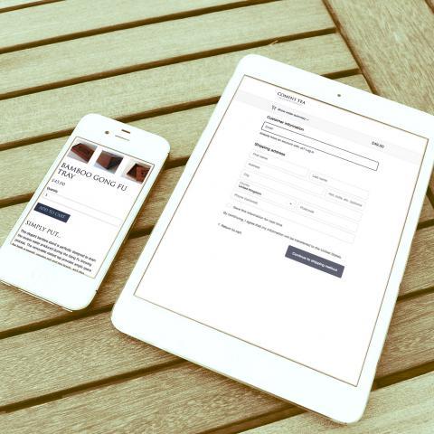 Comins Tea House Ecommerce Website Design
