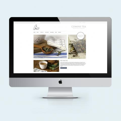 Comins Tea House Website Design