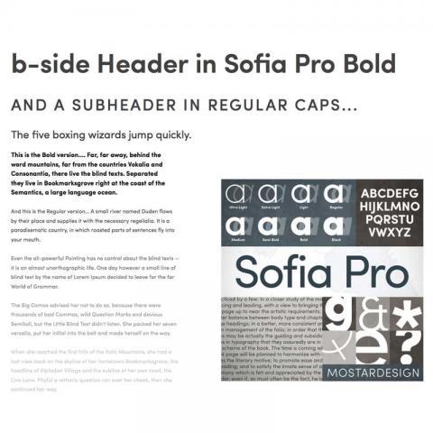 b-side Font Development