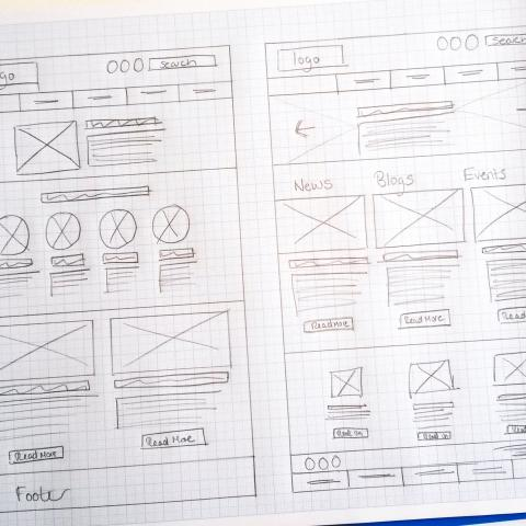 Greener Journeys Website Wireframe Design