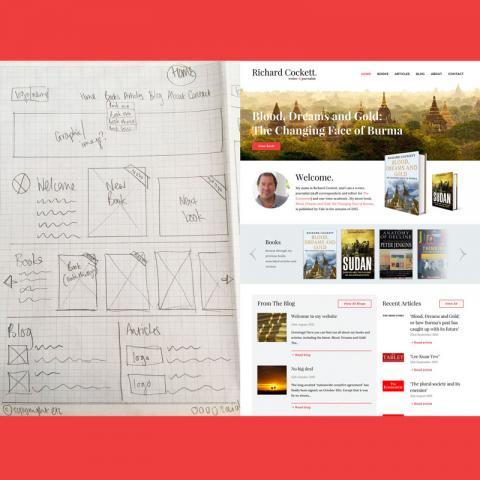 Richard Cockett Author Website Design