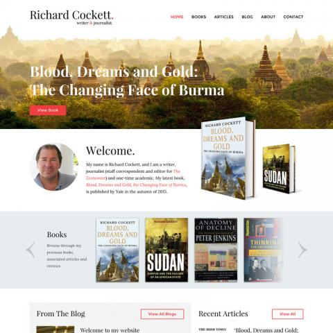 Richard Cockett Author Website Design