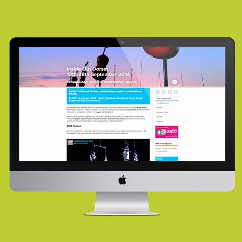 Inside Out Dorset Festival Website Design