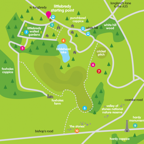 Inside Out Dorset Festival Map Design
