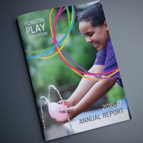 Annual report design for young people's charity