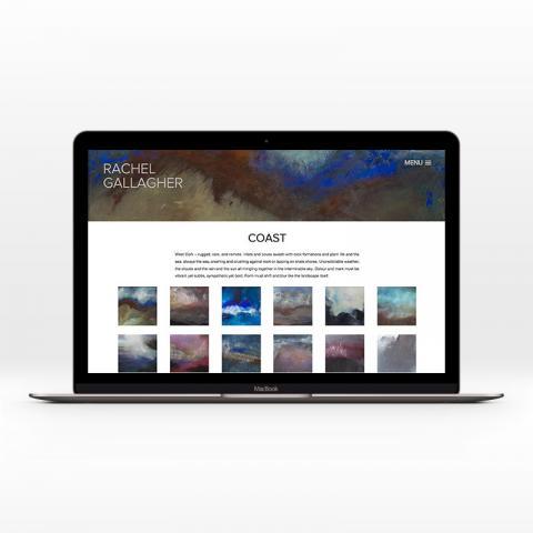 Custom Artist Website Design