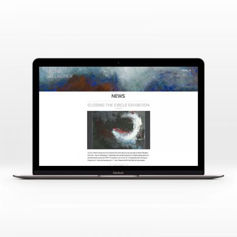 Bespoke Artist Website Design