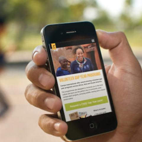 Camps International Website Mobile Design
