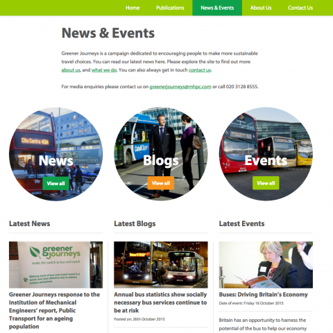 Greener Journeys Website Design