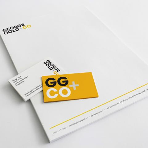 Stationery design using new branding for furniture company