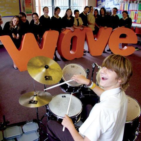 Wave Arts Education Logo & Branding