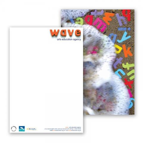 Wave Arts Education Print Design