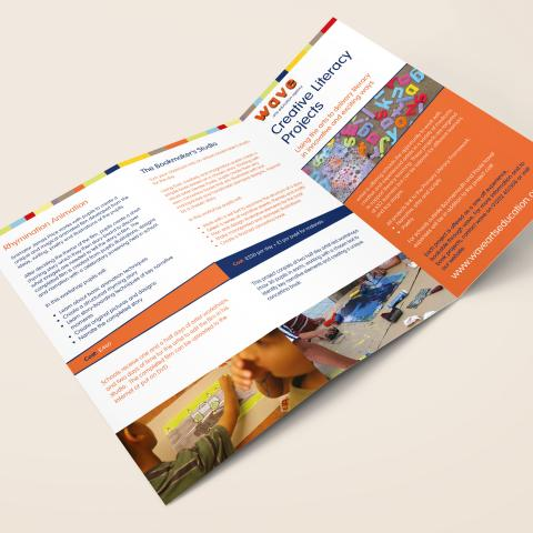 Wave Arts Education Brochure Design
