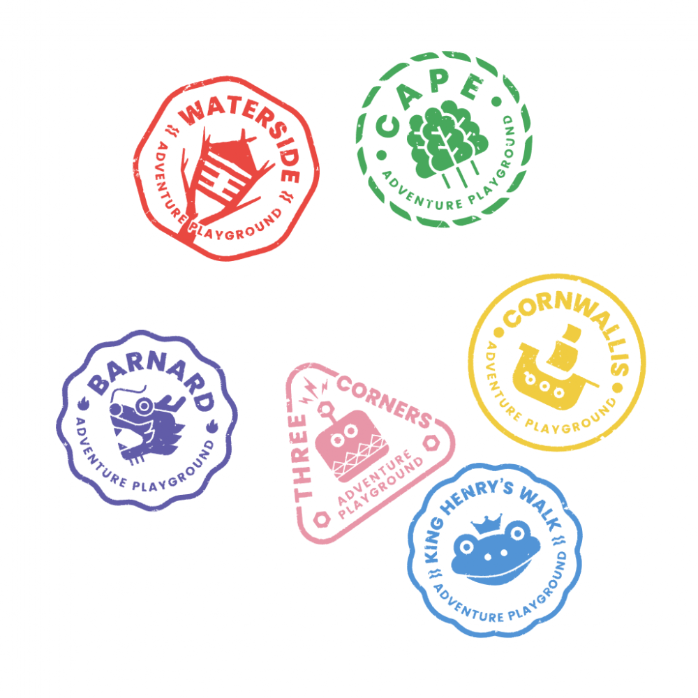 Awesome Playground Logo Stamps