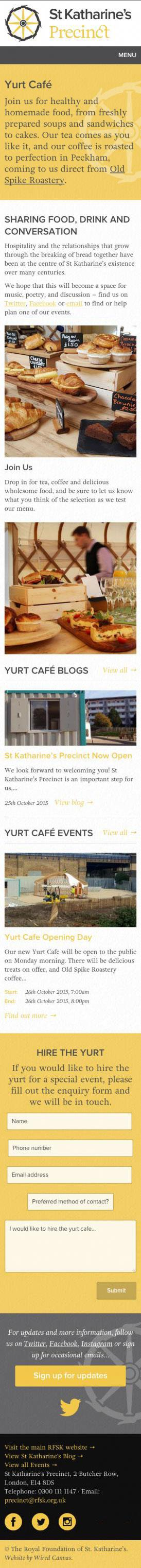 St Katharine's Precinct Mobile Website Design