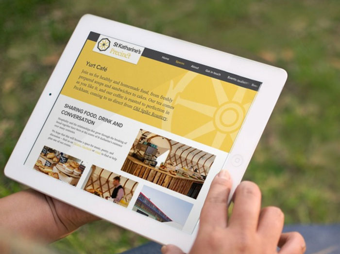 St Katharine's Precinct Charity Website Design